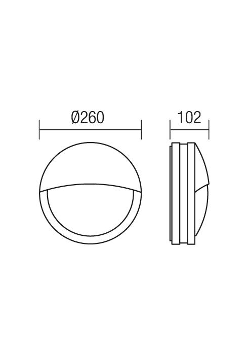 Redo Sonar 9394 modern kültéri fali lámpa / Redo / lámpák