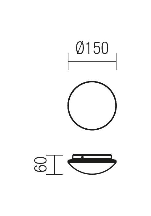 Redo SPOOK 9147 modern kültéri fali lámpa / Redo / lámpák