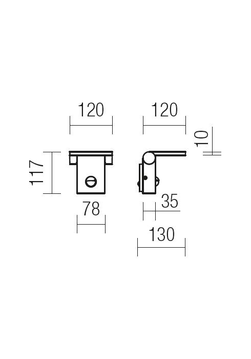 Redo VARIAL 9691 modern kültéri fali lámpa / Redo / lámpák