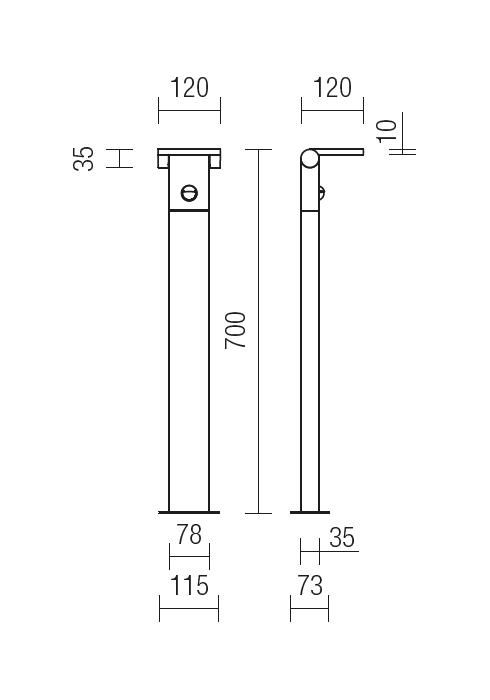Redo VARIAL 9697 modern kültéri állólámpa / Redo / lámpák