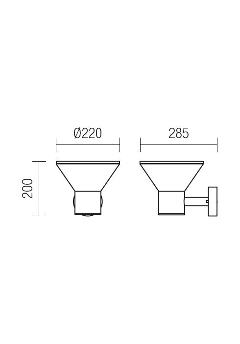 Redo WIT 9686 modern kültéri fali lámpa / Redo / lámpák