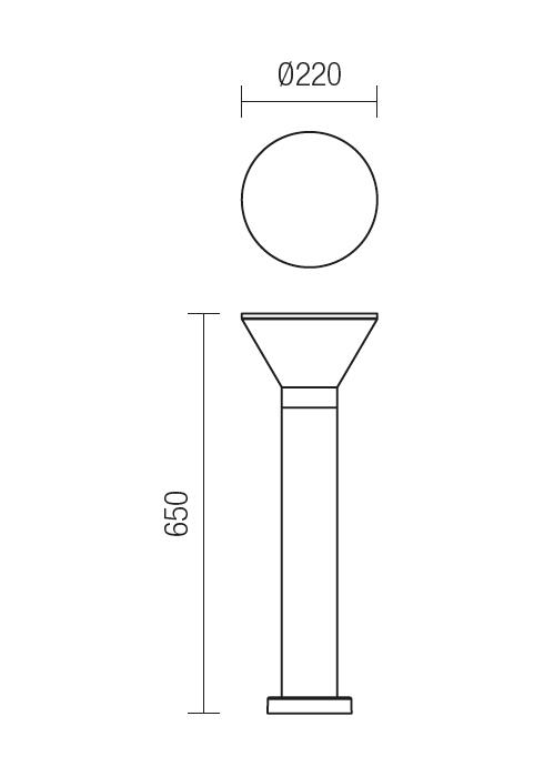 Redo WIT 9688 modern kültéri állólámpa / Redo / lámpák