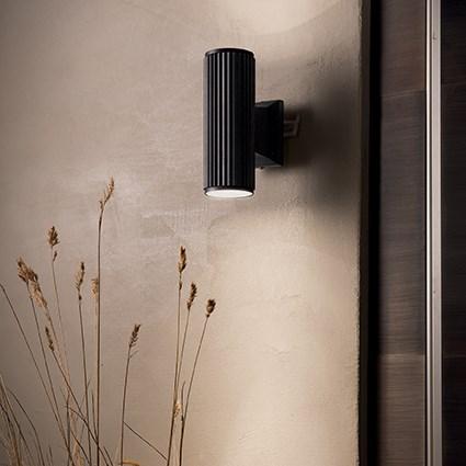 Ideal Lux 129433 BASE AP2 NERO kültéri fali lámpa