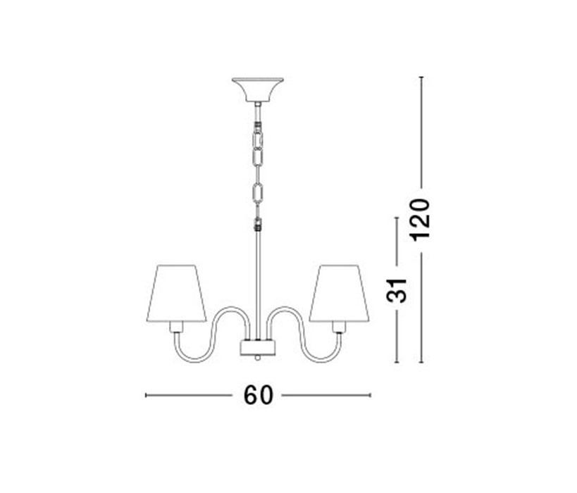 Nova Luce NL-7120022 Elizabeth csillár (több ágú) / Nova Luce / lámpa