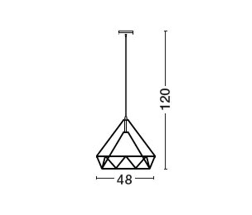 Nova Luce NL-7140072 Zaira függeszték (1 ágú) / Nova Luce / lámpa