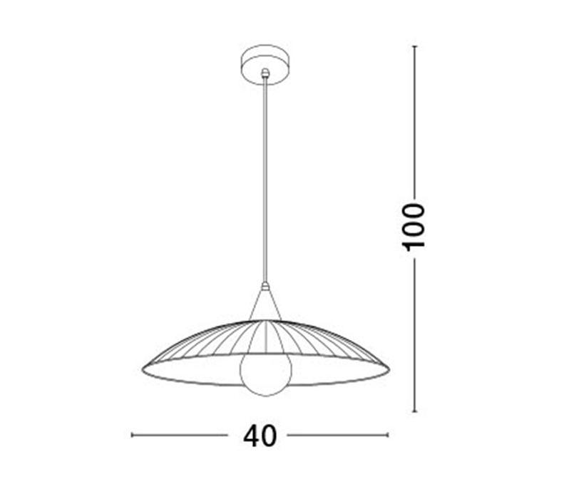 Nova Luce NL-7326501 Shell függeszték (1 ágú) / Nova Luce / lámpa