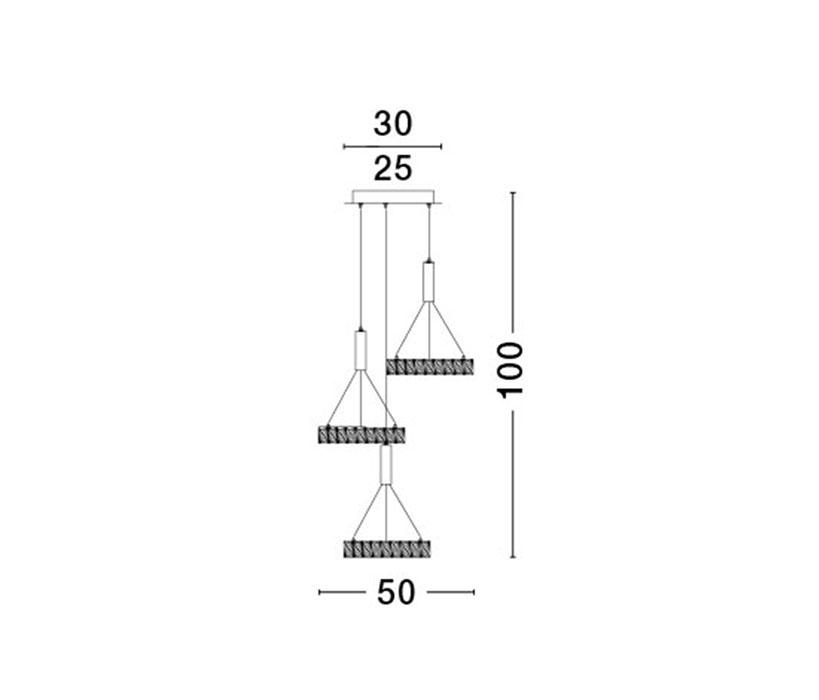 Nova Luce NL-7402401 Corona függeszték