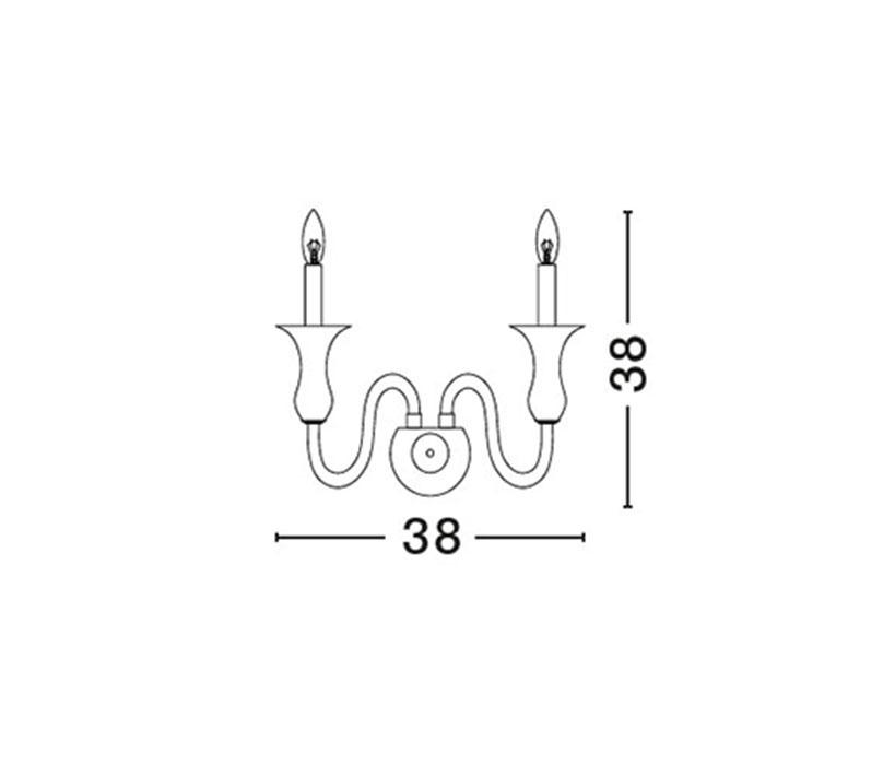 Nova Luce NL-751603 Avion fali kar / Nova Luce / lámpa