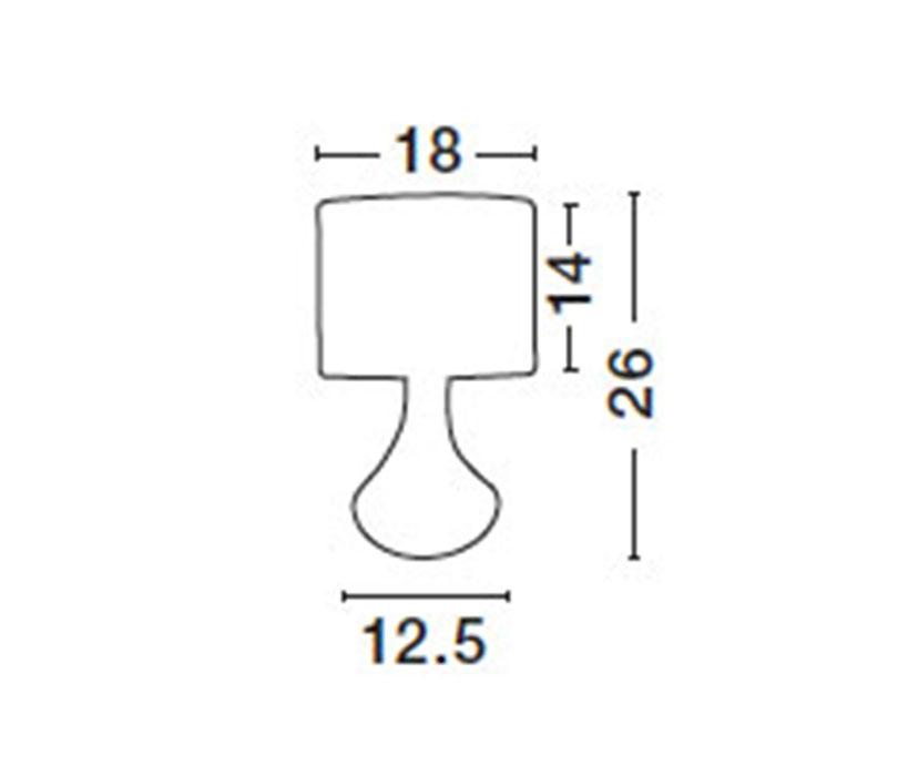 Nova Luce NL-7605163 Rosia asztali lámpa
