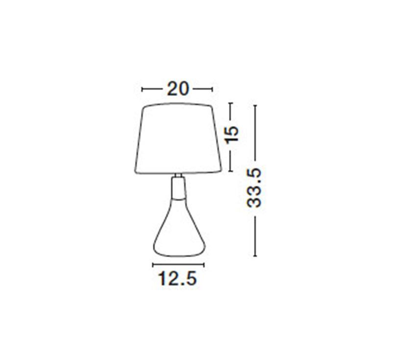 Nova Luce NL-7605166 Montes asztali lámpa