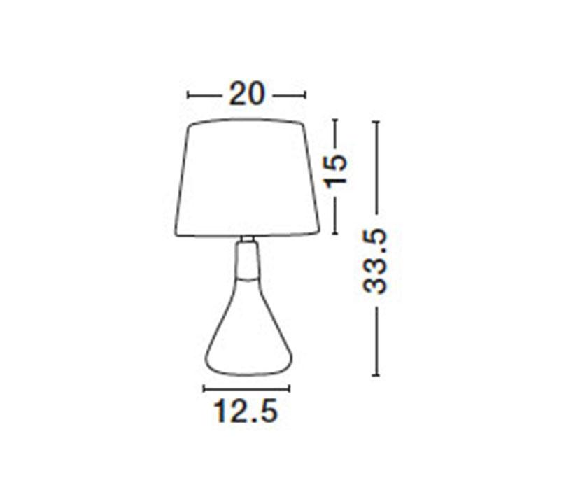 Nova Luce NL-7605167 Montes asztali lámpa