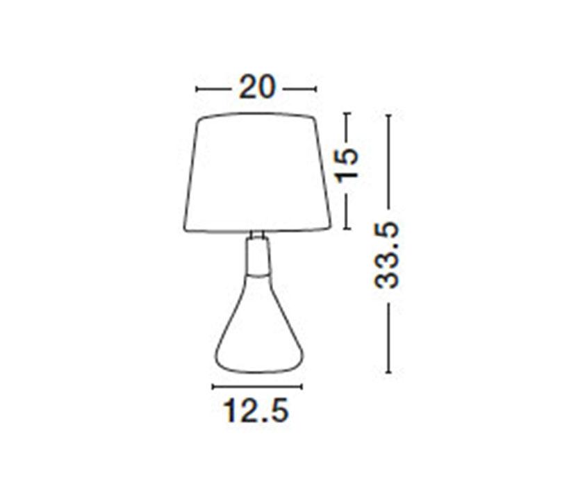 Nova Luce NL-7605168 Montes asztali lámpa