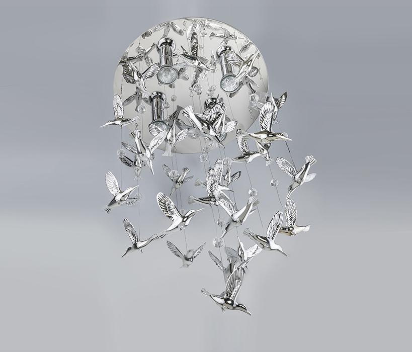 AZzardo AZ-2449 Birds függeszték 4 izzós / AZzardo AZ-MB-9090 /