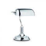 Ideal Lux 152684 LAWYER TL1 ALL CHROME asztali bank lámpa
