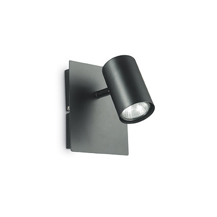 Ideal Lux 115481 SPOT AP1 NERO 1 izzós spot fali lámpa