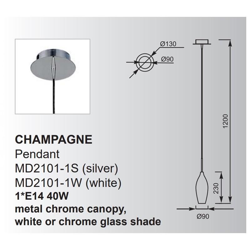 Zuma Champagne függeszték ZU-MD2101-1S
