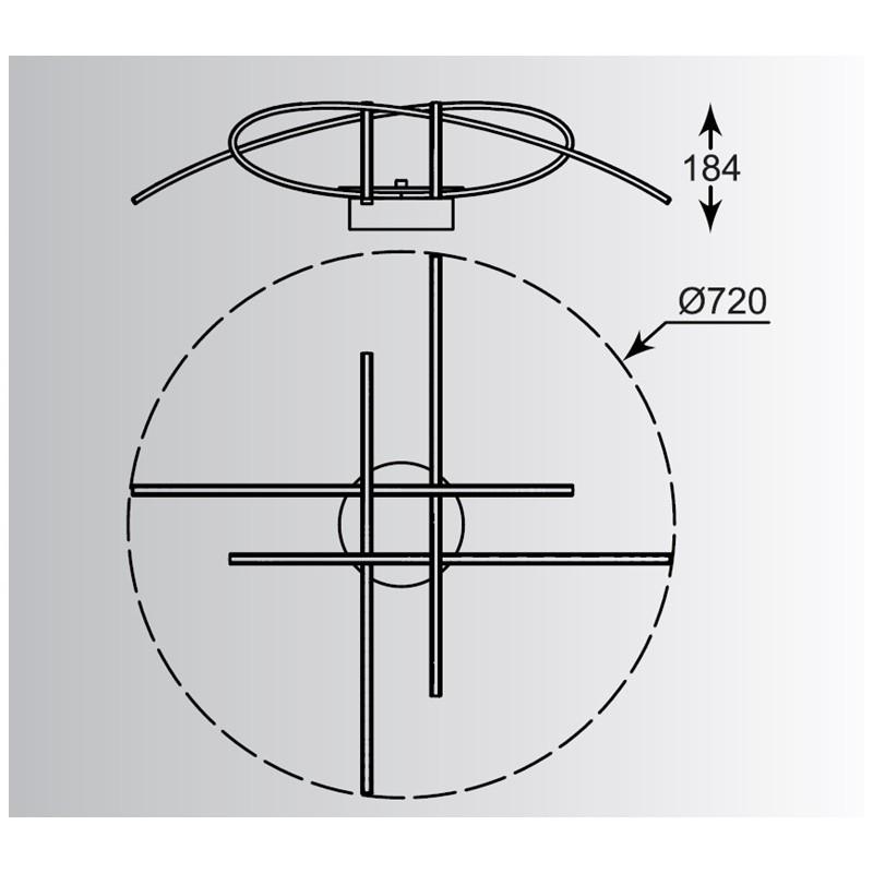 Zuma Ponta mennyezeti lámpa ZU-PL170855-4