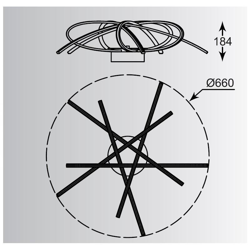 Zuma Ponta mennyezeti lámpa ZU-PL170855-5