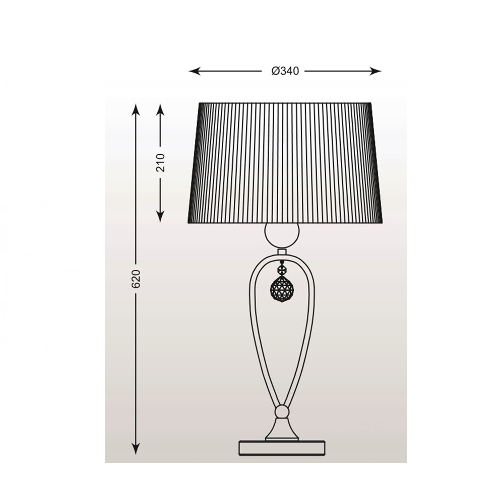 Zuma Bello asztali lámpa ZU-RLT93224-1B