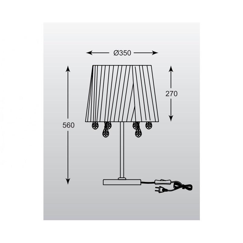 Zuma Cesare asztali lámpa ZU-RLT94350-3B