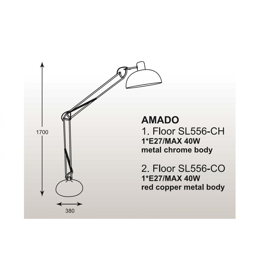 Zuma Amado állólámpa ZU-SL556CO