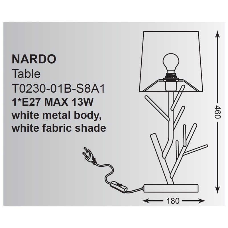 Zuma Nardo asztali lámpa ZU-T0230-01B
