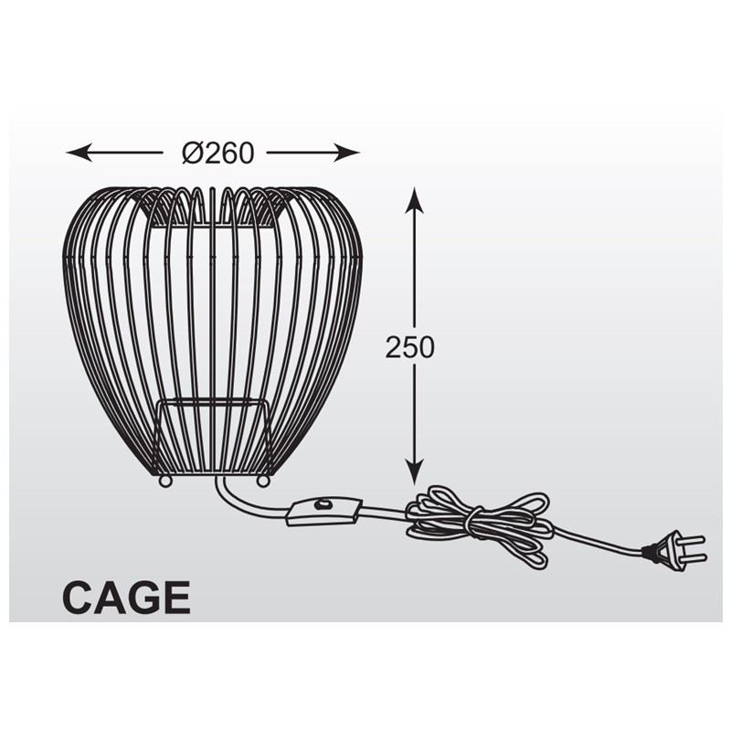 Zuma Cage hangulatfény ZU-TL-15012-BK