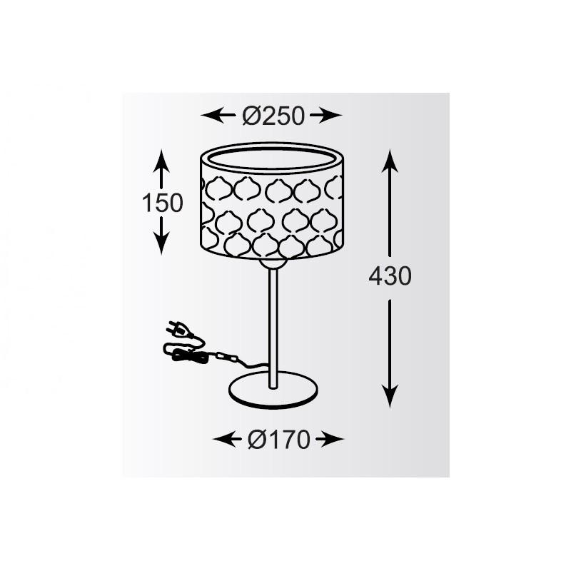 Zuma Forge asztali lámpa ZU-TL-16036-BRA-BK