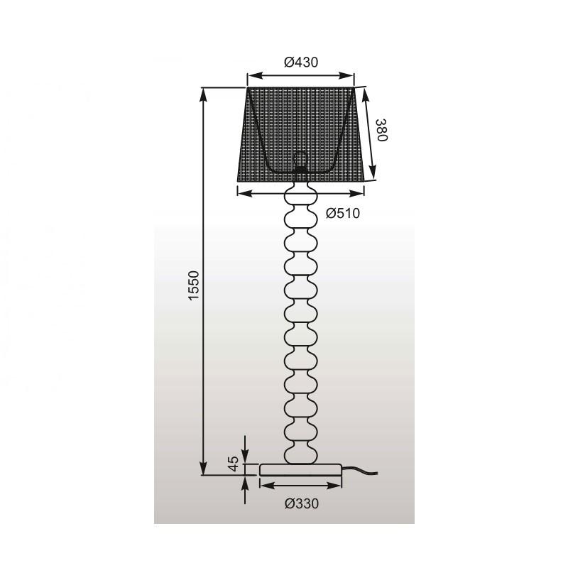 Zuma Deco állólámpa ZU-TS-060216F-CHWH
