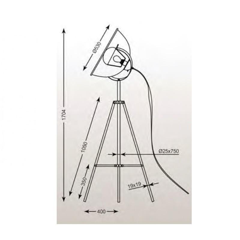 Zuma Antenne állólámpa ZU-TS-090522F-WHGO