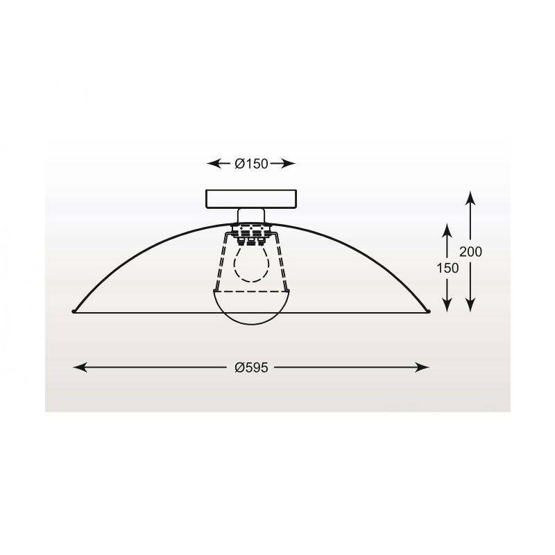 Zuma Antenne mennyezeti lámpa ZU-TS-100422CL-BKGO