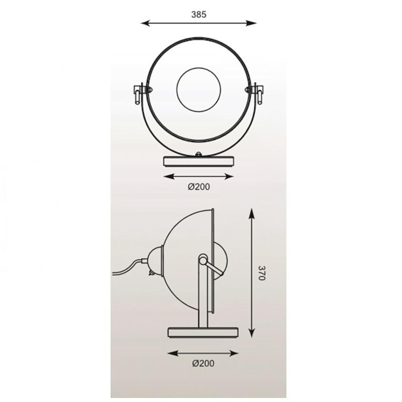 Zuma Antenne asztali lámpa ZU-TS-130801T-BKGO