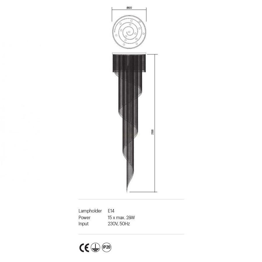 Incanti COCO ICC P15 10 60 kristály 15 izzós mennyezeti lámpa