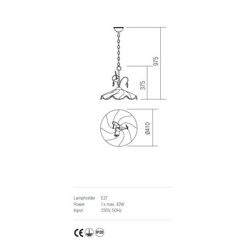 Incanti DALILA IDL P1 05 rusztikus 1 izzós függeszték