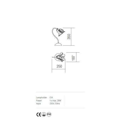 Incanti rusztikus asztali lámpa DALILA IDL T1 05