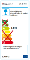 Redo LED mennyezeti lámpa 01-1465 ELO