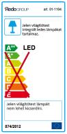 Redo LED fali lámpa HELLO 01-1194