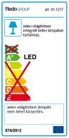 Redo LED beépíthető fali / mennyezeti lámpa KANJI 01-1216