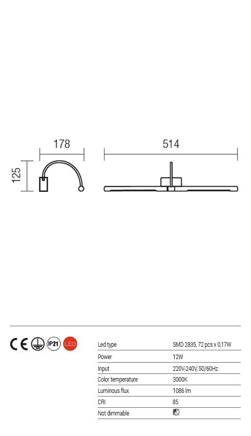 Redo LED képmegvilágító lámpa KENDO 01-1137