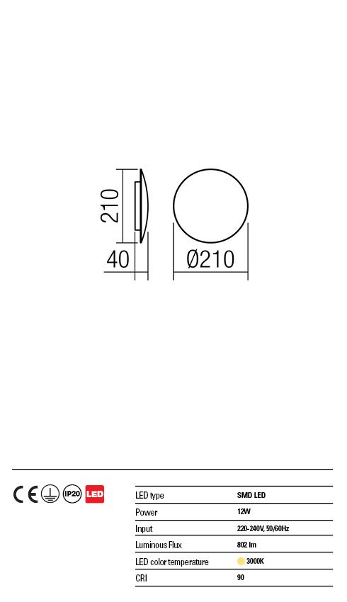 Redo LED fali lámpa 01-1333 UMBRA