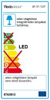Redo LED víz védett mennyezeti lámpa 01-1237 EGO