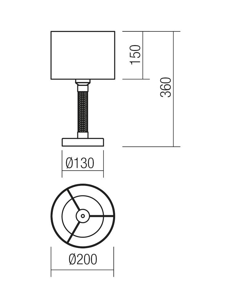 Redo SML asztali lámpa 01-1178 ASTRID