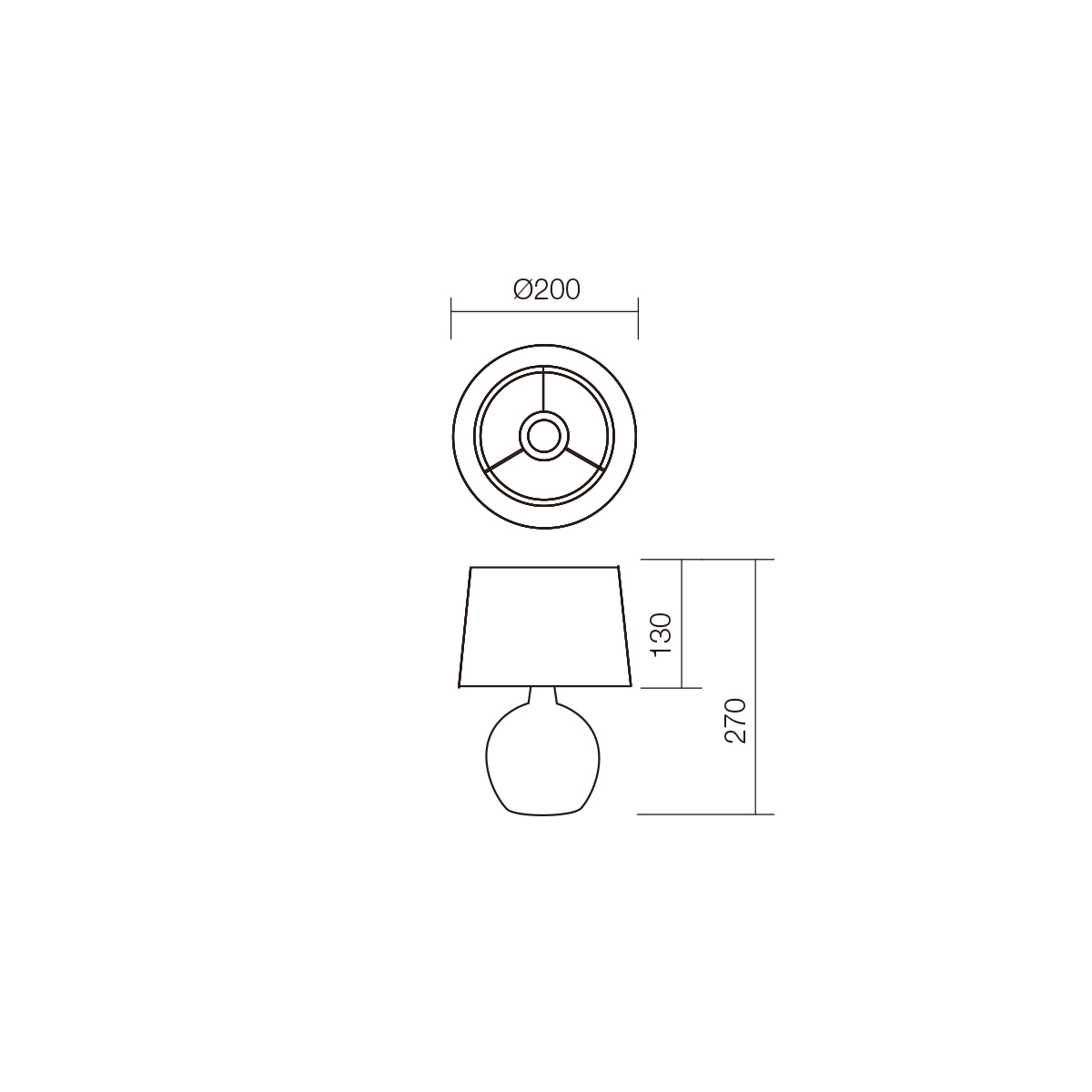 Redo SML asztali lámpa 01-1374 HOME