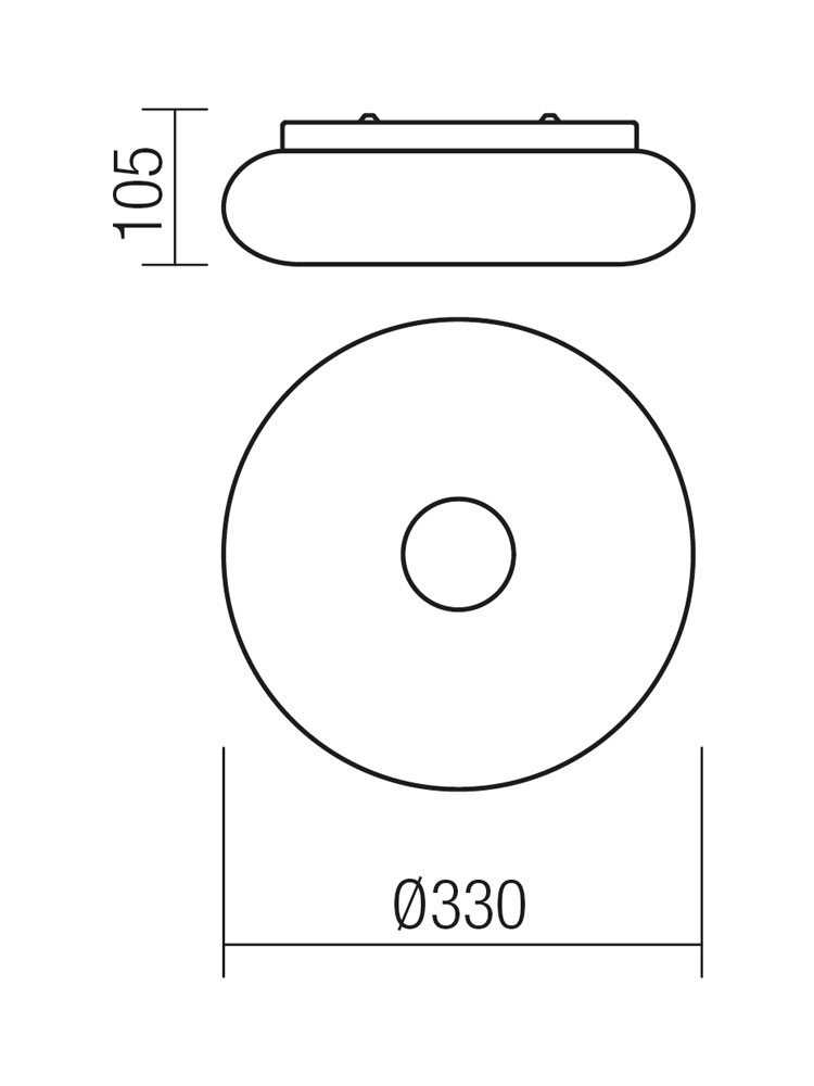 Redo SML LED fali/mennyezeti lámpa 01-1173 JADE