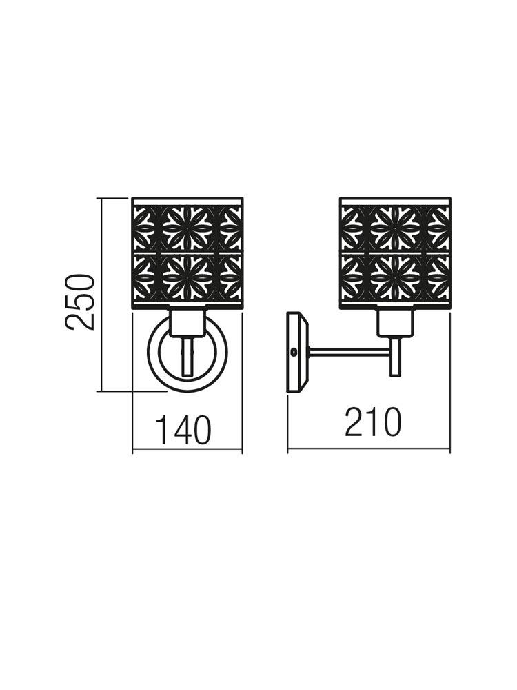 Redo SML 1 izzós fali lámpa 01-1170 VANILLA