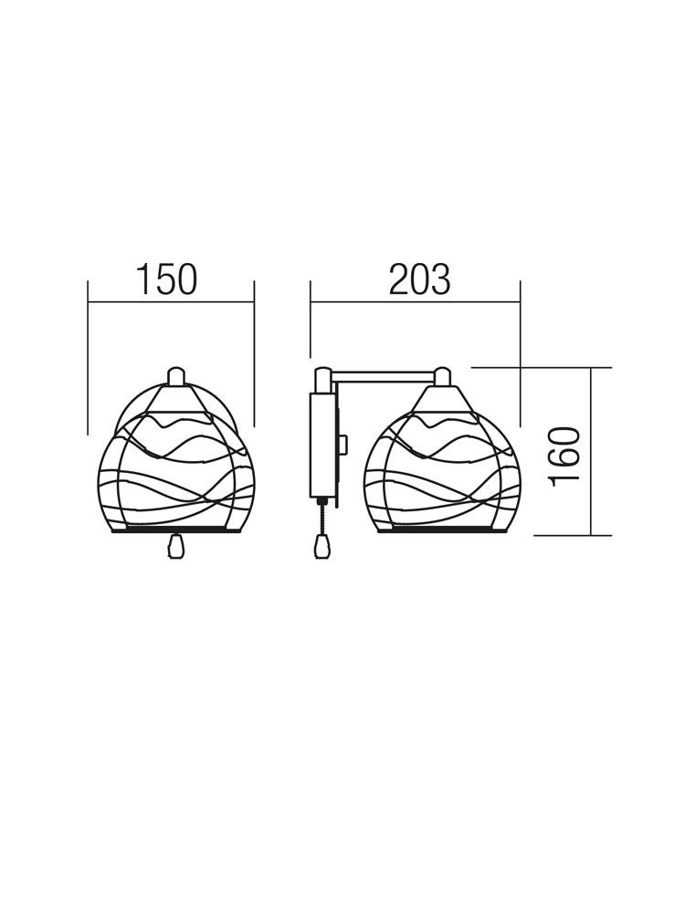 Redo SML fali lámpa 01-1052 VIVIENNE