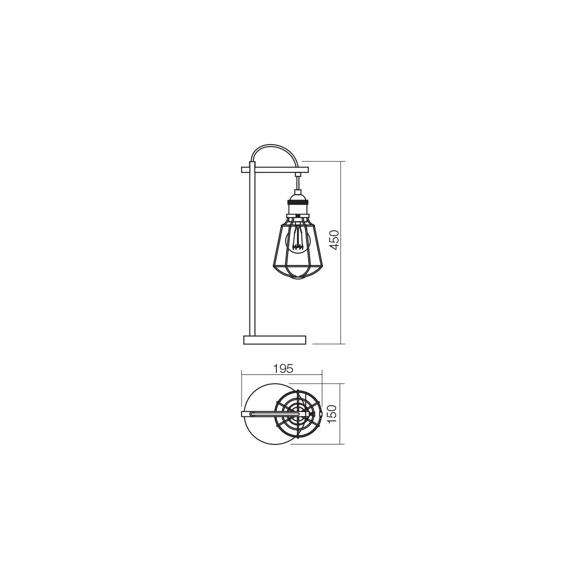 Redo SML asztali lámpa 01-1304 THARU