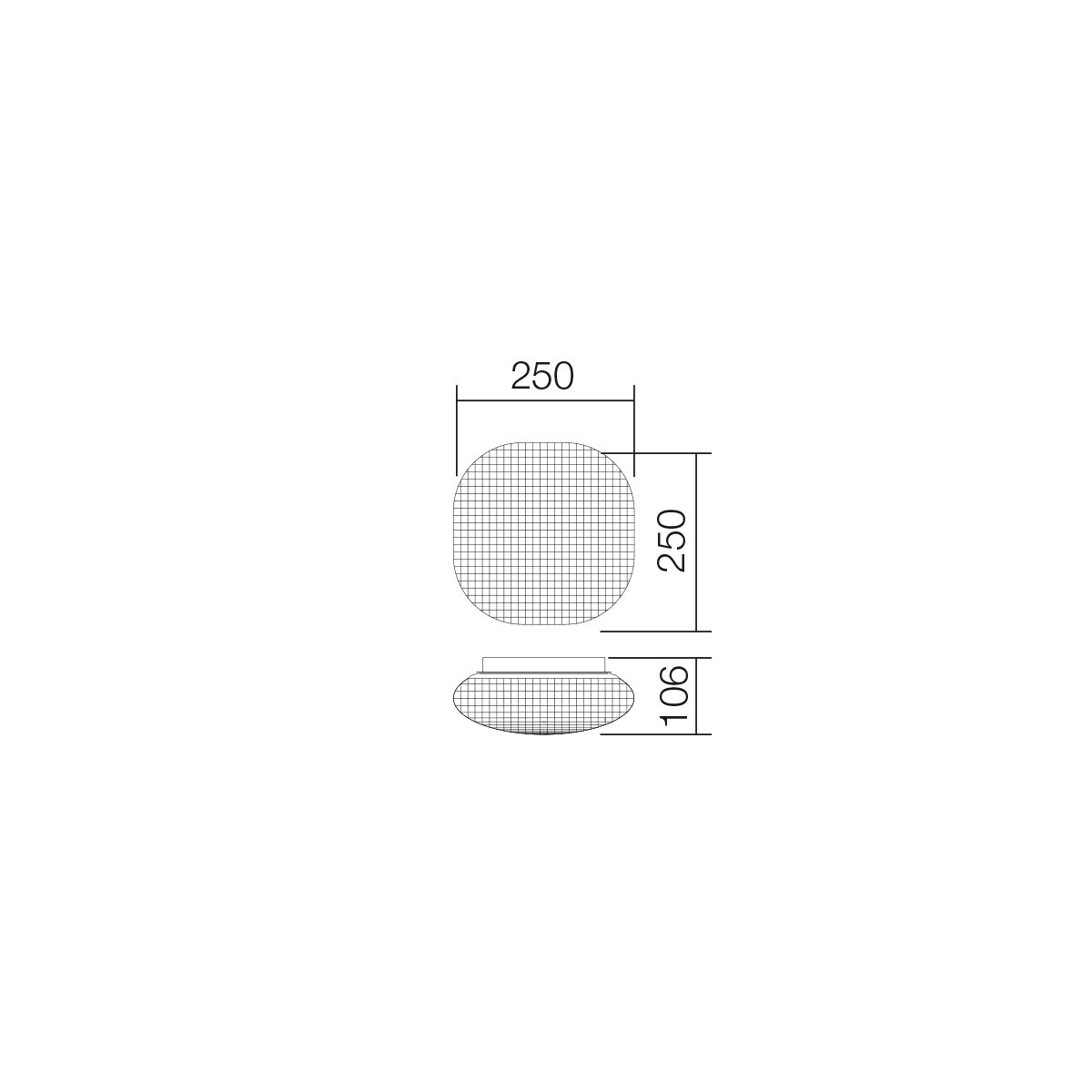 Redo SML fürdőszobai mennyezeti lámpa 01-559 QUARA