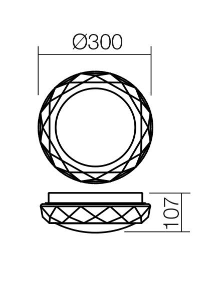 Redo SML 2 izzós fürdőszobai mennyezeti lámpa 01-1240 RIBA