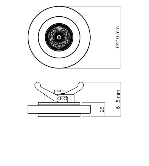 Redo SML beépíthető spot lámpa 70162 CR2 CH